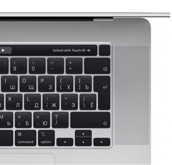 MacBook Pro 16 Retina Touch Bar MVVL2RU Silver (2,6 GHz Core i7, 16GB, 512GB, Radeon Pro 5300M) купить